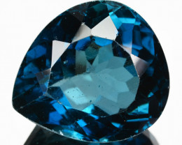 17.19 Cts Natural London Blue Topaz Pear Drop Cut Brazil