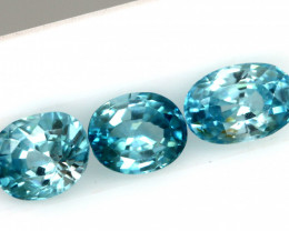 2.51 CTS VVS BLUE ZIRCON FACETED  PARCEL PG-3157