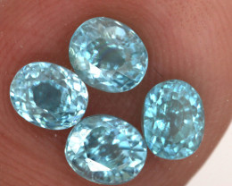 3.50 CTS   VVS BLUE ZIRCON FACETED PARCEL PG-3158