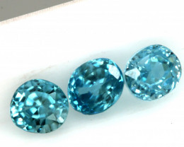 2.12 CTS VVS  BLUE ZIRCON FACETED PARCEL PG-3161