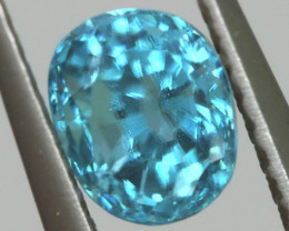 2.89 CTS VVS  BLUE ZIRCON FACETED PARCEL PG-3162