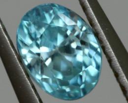 3.14 CTS VVS  BLUE ZIRCON FACETED PARCEL PG-3163