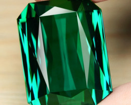 91.22 Cts Huge Size Un Heated AAAA Green Color Natural Tourmaline Loose Gem