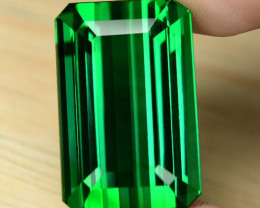 51.39 Cts Huge Size Un Heated AAAA Green Color Natural Tourmaline Loose Gem