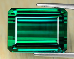 33.73 Cts Huge Size Un Heated AAAA Green Color Natural Tourmaline Loose Gem