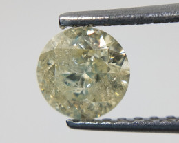 1.07 carats Loose Yellow diamond gemstone,Brilliant round cut