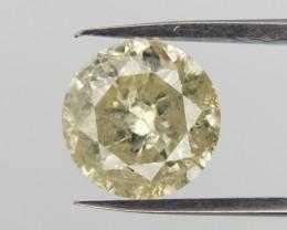 1.07 carats Loose Yellow diamond gemstone,Brilliant round cut
