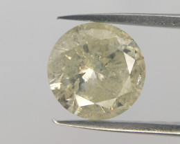 0.91 Carats ,Excellent cut diamond,Light Vivid yellow color