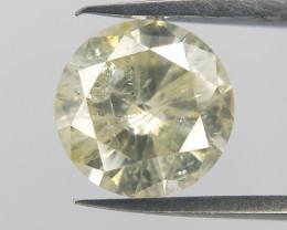 0.87 cts ,Bright yellow diamond,Loose diamond gemstone