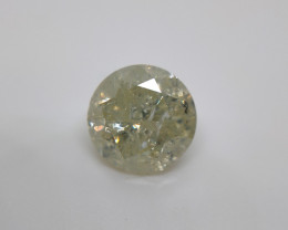 0.93 cts Fancy yellow diamond,Loose natural diamond