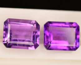 6.30 CT Natural Gorgeous Color Fancy Cut Amethyst ~ Pairs