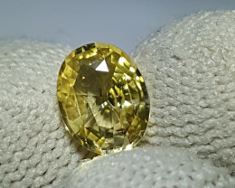 NO HEAT 1.18 CTS CERTIFIED NATURAL STUNNING YELLOW SAPPHIRE SRI LANKA