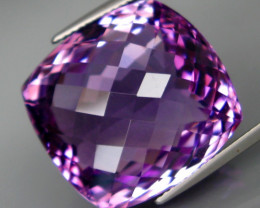 35.77 ct. Natural Top Nice Purple Amethyst Unheated Brazil - IGE Сertified