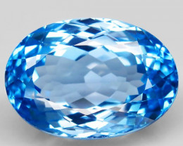 41.38 ct. Natural Swiss Blue Topaz Top Quality Gemstone Brazil  - IGE Сerti