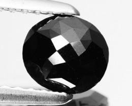 0.84 Cts Natural Coal Black Diamond Oval (Rose Cut) Africa