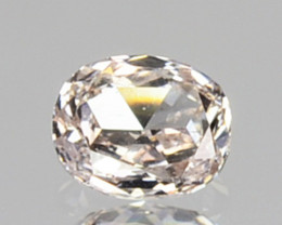 ~UNTREATED~ 0.09 Cts Natural Diamond Fancy White Oval Cut Africa