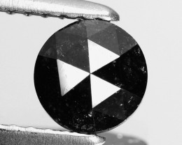 0.71 Cts Natural Coal Black Diamond Round (Rose Cut) Africa