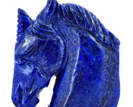 Genuine 535.00 Cts Blue Lapis Lazuli Horse Head