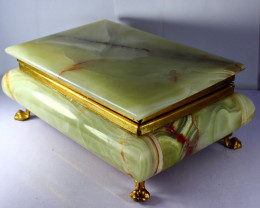 8490 CT Natural - Unheated Onyx Carved Jewelry Box Stone Special Shape