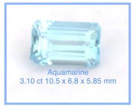 Pretty 3.10ct Unheated Emerald Cut Aquamarine - Ref 2298