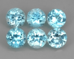 10.00 CTS AWESOME NICE QULITY MIXED 7.00 MM ROUND BLUE~SWISS NATURAL TOPA