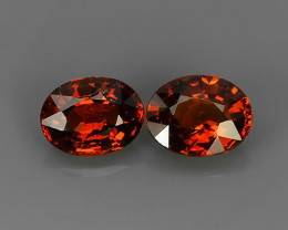4.30 CTS EXQUISITE NATURAL UNHEATED OVAL SPESSARTITE 2 PCS