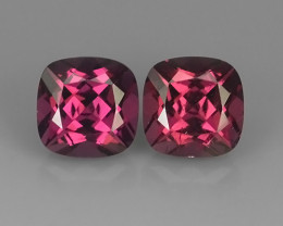 4.05 CTS NATURAL -RHODOLITE PURPLE GARNET 2 PCS~EXCELLENT!!
