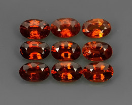 5.20 Cts_Oval Cut_Marvelous_Electric Orange_Africa_Sizzling_Spessarite_~