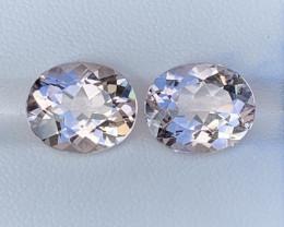 8.66Carats Morganite Gemstones Pairs