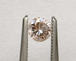 0.45ct Natural Light Brown Pink GIA certified  + Video
