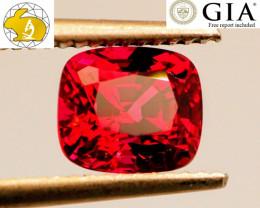 VVS! VIVID! GLOWING! 2.32 CT Red Mahenge Spinel (Tanzania)   $12,000