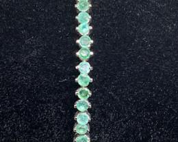(13) Stunning Natural 44.02 tcw. Brazilian Emerald Bracelet Unheated