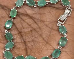 (44) Stunning 65.0tcw. Natural Brazilian Emerald Bracelet Untreated Retail
