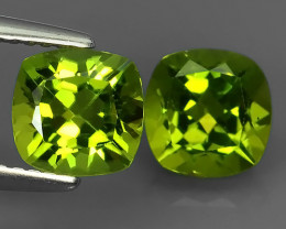 3.65 CTS~JEWEL SET! PERIDOT WORLD SERIES BEAUTIFUL CUSHION PARCEL!!