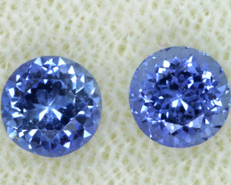 1.32  CTS SAPPHIRE FACETED  GEMSTONE PAIR TBM- 641