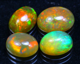 Welo Opal 3.90Ct Bright Color Play Ethiopian Opal B2802