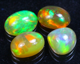 Welo Opal 3.13Ct Bright Color Play Ethiopian Opal B2808