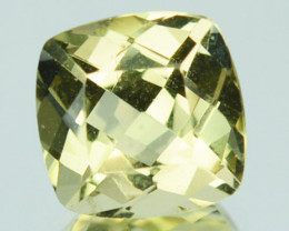 1.22 Cts Natural Canary Yellow Beryl Cushion Cut Brazil