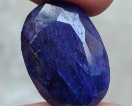 39.55 CT BLUE SAPPHIRE BIG NATURAL GEMSTONE Treated VA4154
