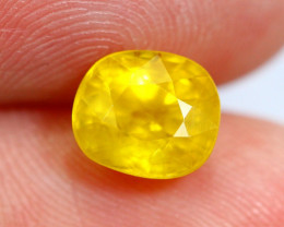 2.27cts Natural Yellow Colour Sapphire / RD40