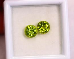 1.90cts Natural Apple Green Colour Peridot / RD47