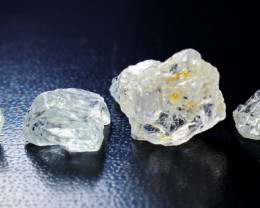 55.15 CT Natural & Unheated Blue Aquamarine Rough lot
