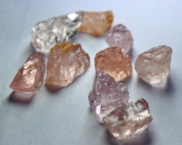 55.90 CT Natural - Unheated Peach Pink  Morganite Rough Lot