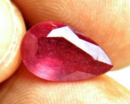 5.34 Carat Fiery Ruby Pear - Gorgeous