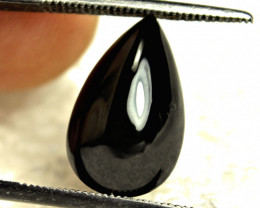 6.02 Carat Southeast Asian Black Tourmaline Pear - Gorgeous