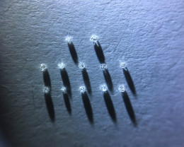 0.05 ctw 12 x D-H Si-i1 single cut diamonds