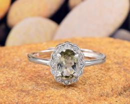 "Natural Tourmaline, ""Size - Adjustable""  925 Sterling Silver Ring (TM010)"