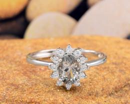 "Natural Tourmaline, ""Size - Adjustable""  925 Sterling Silver Ring (TM017)"