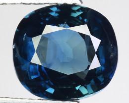 3.55 Cts Blue Sapphire Sparkling Intense GS4