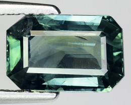 3.04 Cts Green Blue Sapphire Sparkling Intense GS6